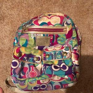 Coach Poppy book bag authentic